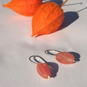 GARDEN PARTY EARRINGS red quartz