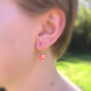 GARDEN PARTY EARRINGS coral